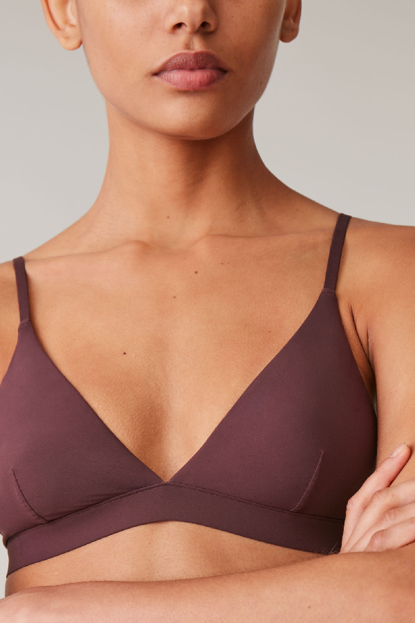 Cos Triangle Microfibre Bra In Purple