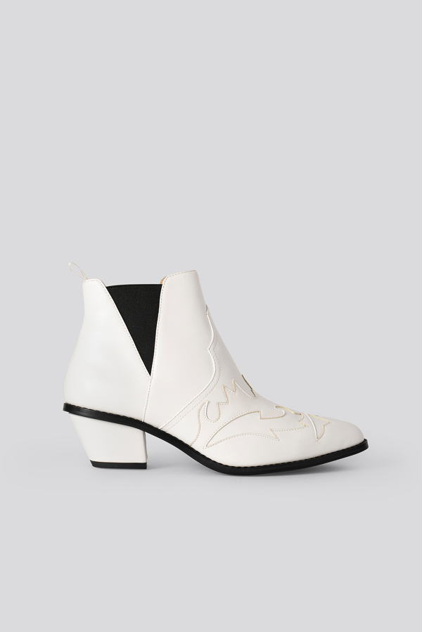 Na-kd Ankle Cowboy Bootie White