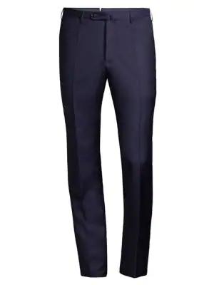 Incotex Men's Matty Twill Dress Pants In Dark Blue