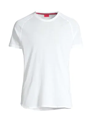 Isaia Men's Piquet Crew T-shirt In White