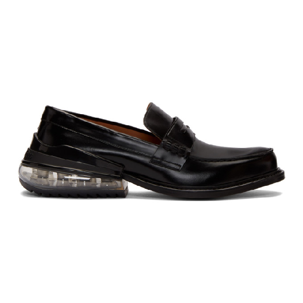 Maison Margiela Polished-leather Penny Loafers In T8013 Black