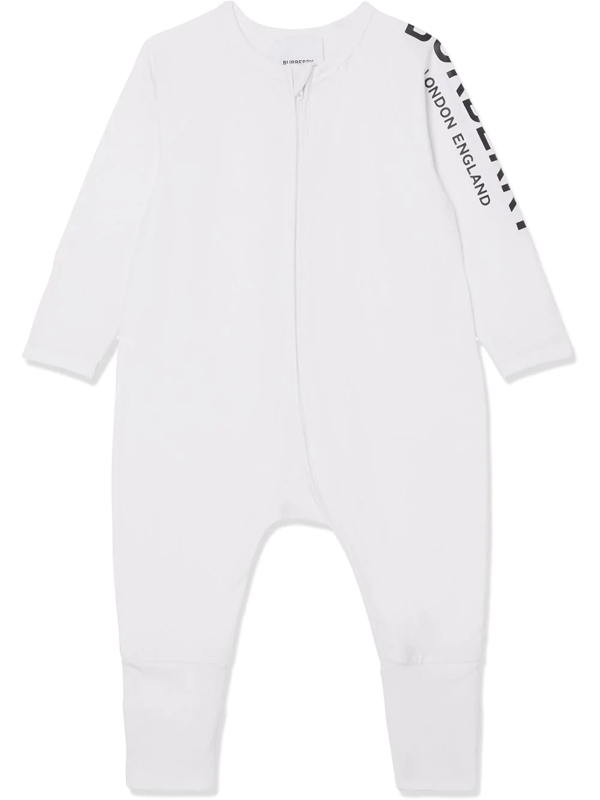 Burberry Babies' Logo Print Two-piece Set In White