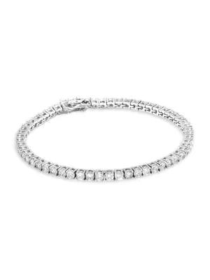 Fallon Women's Grace Silvertone & Cubic Zirconia Tennis Bracelet In Rhodium