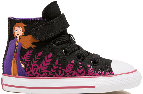 Pre-owned Converse  Chuck Taylor All-star Hi Frozen 2 Anna (td) In Black/cherries Jubilee-white