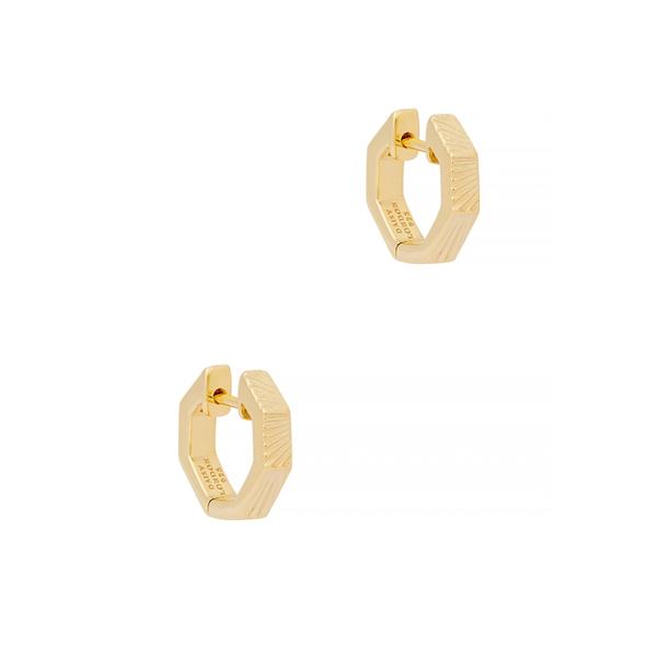 Daisy London X Estée Lalonde 18kt Gold-plated Hoop Earrings