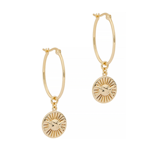 Daisy London X Estée Lalonde Goddess 18kt Gold-plated Hoop Earrings