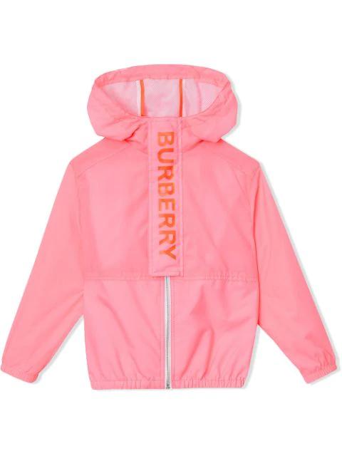 Burberry Girls' Austin Hooded Jacket - Little Kid, Big Kid In Pink