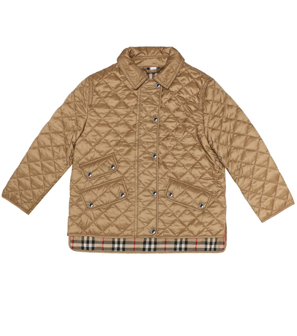 Burberry Kids' Little Girl's & Girl's Brenna Quilted Jacket In Beige