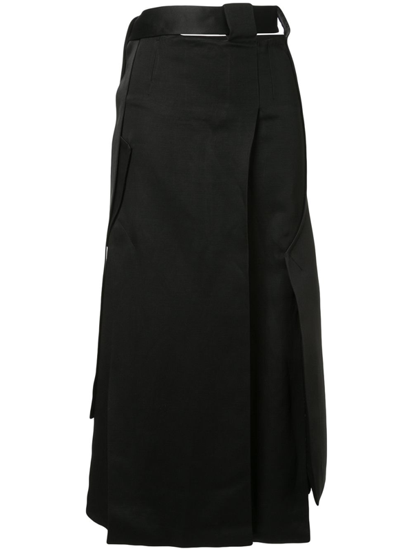 Christopher Esber Tailored Vent Skirt In Black