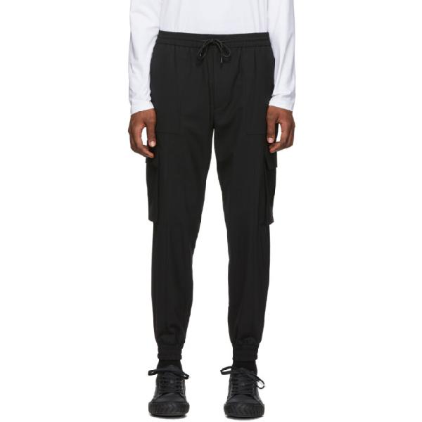 Juun.j Black Wool Cargo Pants In 5 Black