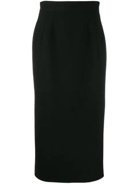 Dolce & Gabbana Contrast-panel Pencil Skirt In Black