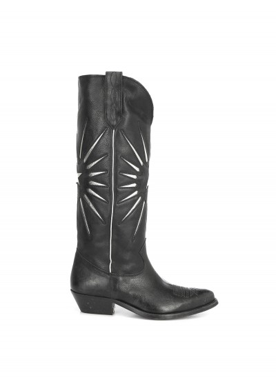 Golden Goose Star Boots In Black