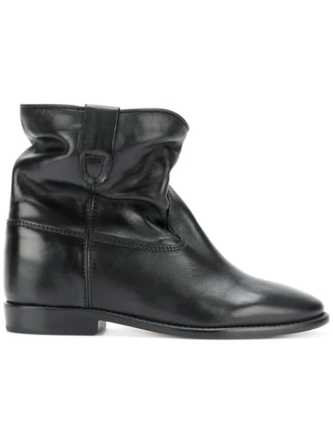Isabel Marant Crisi Wedge Black Ankle Boots