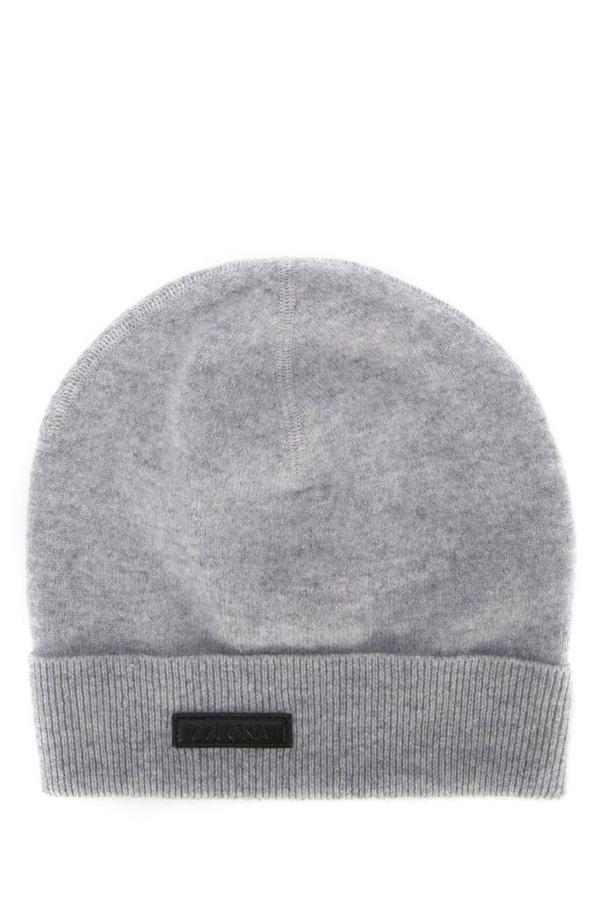 Ermenegildo Zegna Knitted Beanie Hat In Grey
