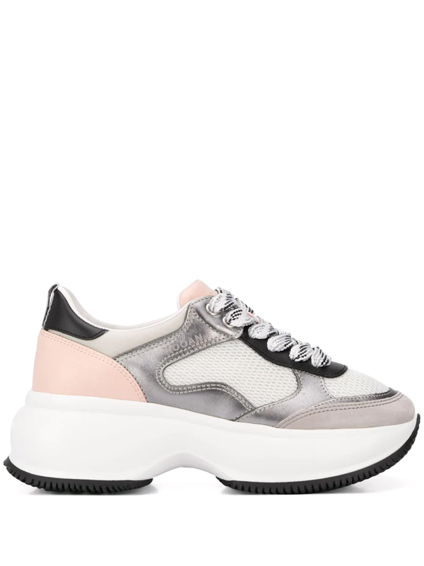 Hogan Maxi I Active Chunky Sneakers In Grey