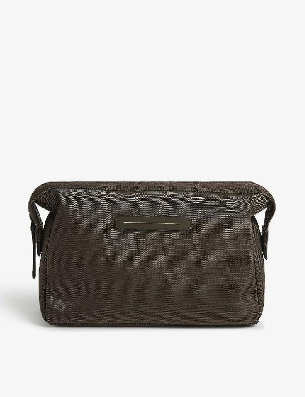 Horizn Studios Ballistic Nylon Wash Bag In Dark Olive