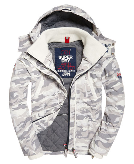Superdry Hooded Sd-wind Yachter Jacket In White
