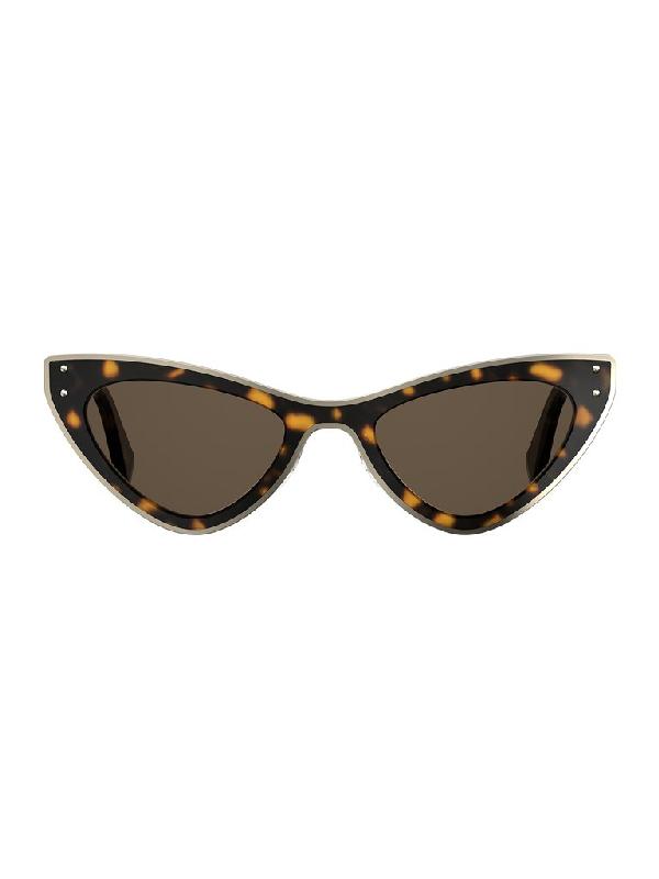 Moschino Eyewear Cat Eye Sunglasses In Brown