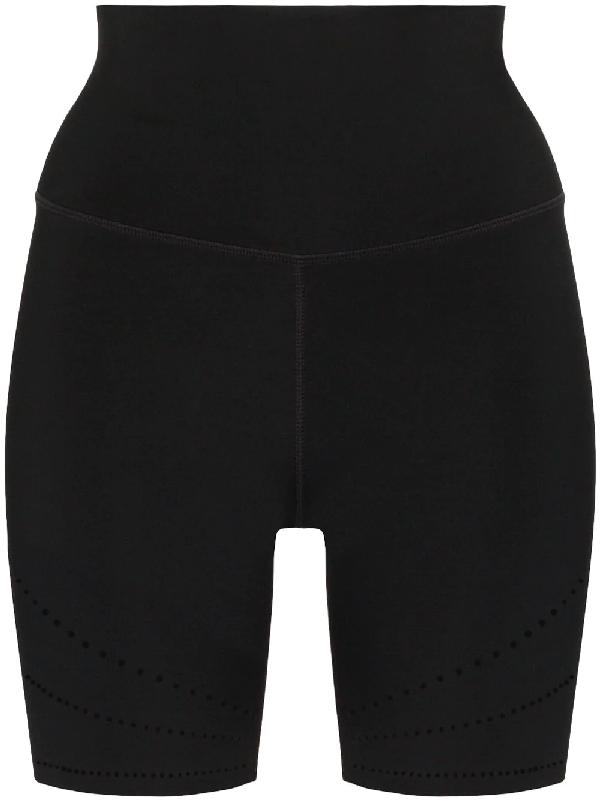 Nimble Activewear Logo Print Perforated Cycling Shorts In Black