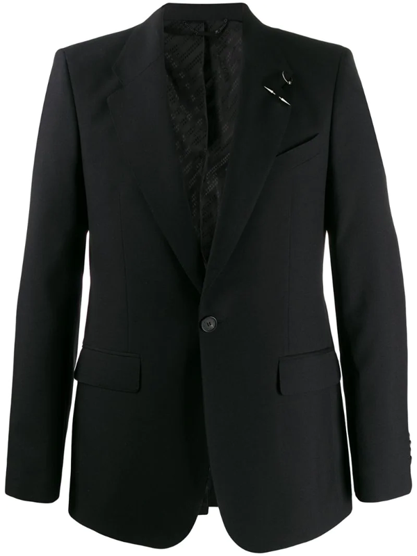 Givenchy Men's Two-button Wool Jacket In Black