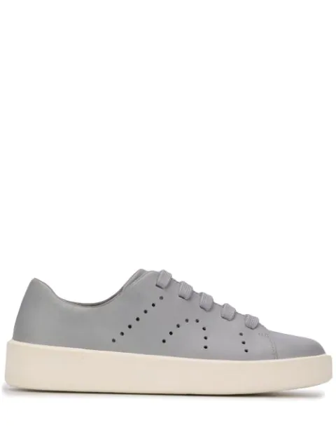 Camper Courb Perforated Low-top Sneakers In Blue