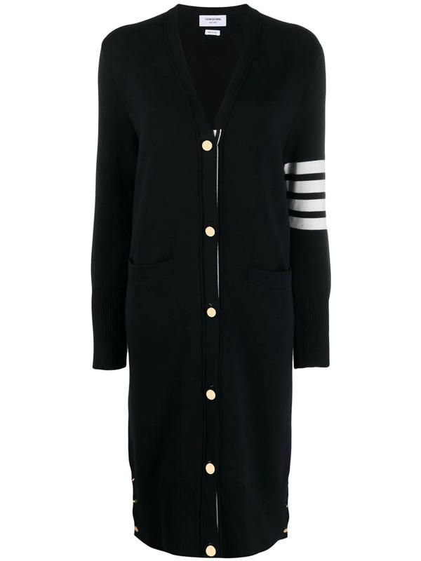 Thom Browne 4-bar Stripe Cardi-coat In Blue
