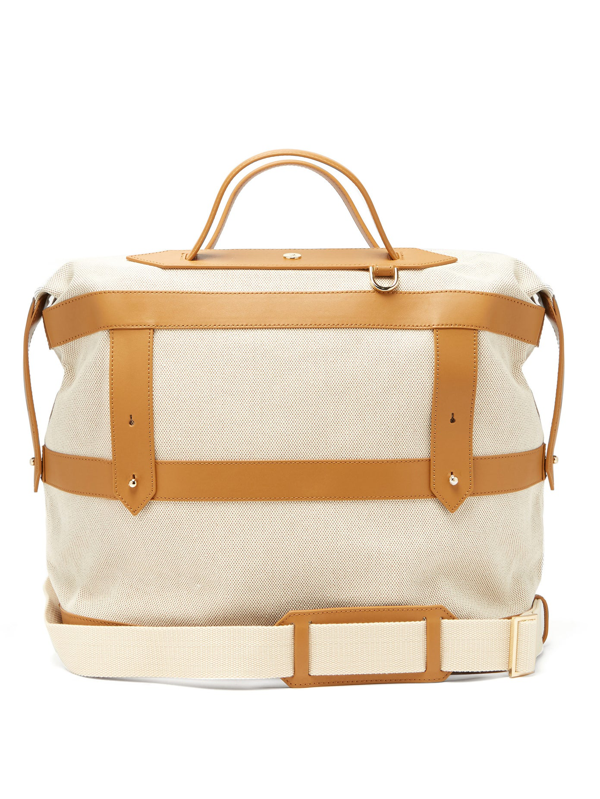Paravel Weekender Canvas Holdall In Scout Tan