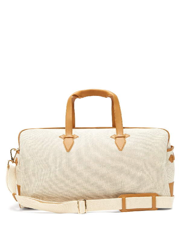 Paravel Grand Tour Canvas Holdall In Tan Multi