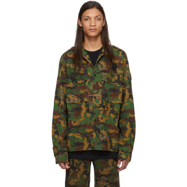 Off-white Camouflage Cotton-ripstop Shirt In All Over No