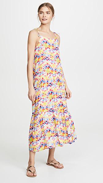Playa Lucila Tie Dye Dress In Multi