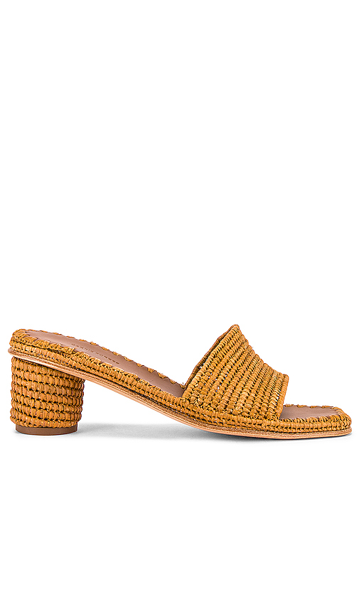 Carrie Forbes Bou Heeled Mules In Cognac