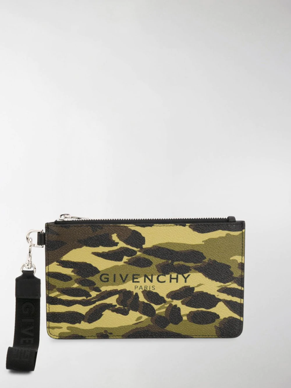 Givenchy Camouflage Print Pouch Bag In Green