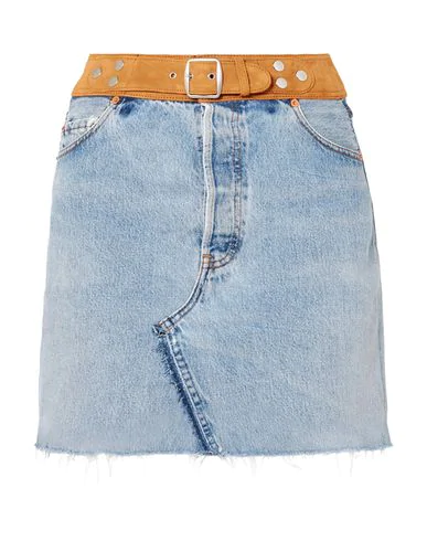 Re/done With Levi's Denim Skirt In Blue