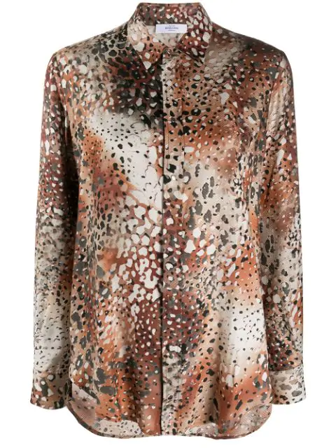 Roseanna Lift Atelier Animal Jacquard Shirt In Neutrals