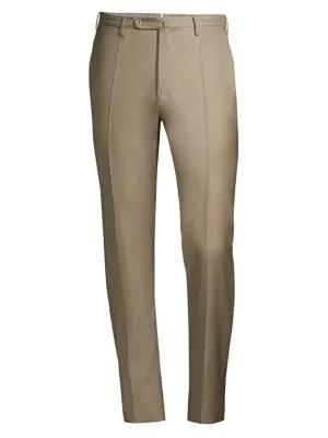 Incotex Men's Matty Twill Dress Pants In Beige