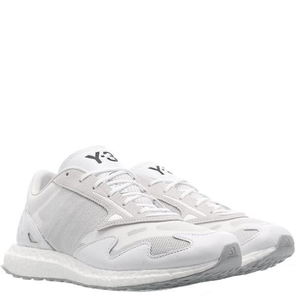 Y-3 Rhisu Run Dual-layer Mesh Upper Sneakers In White