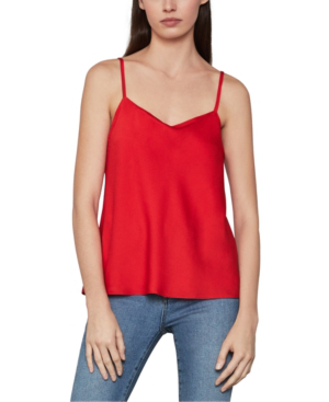 Bcbgmaxazria Draped Satin Camisole In Red