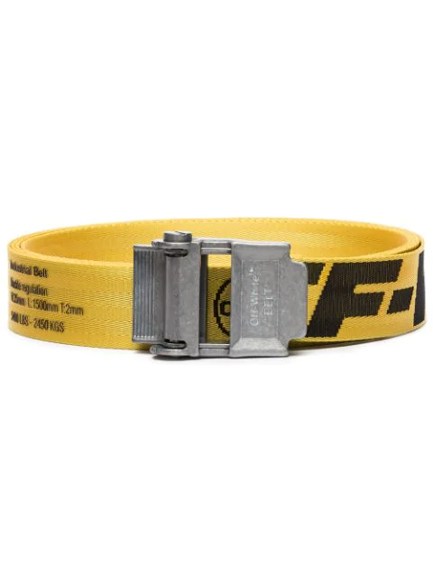 Off-white 2.5cm Yellow 2.0 Industrial Logo-jacquard Webbing Belt In Yellow ,black