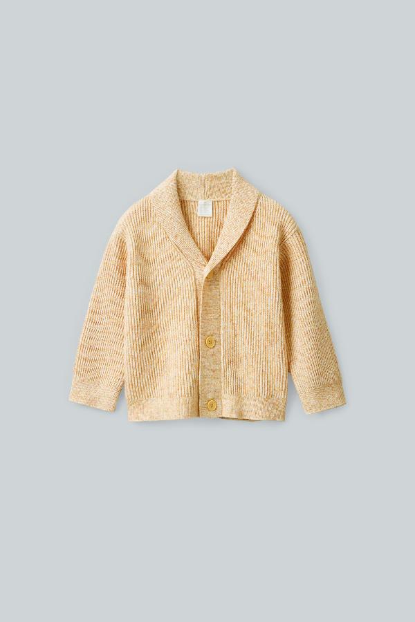 Cos Kids' Cotton-wool Cardigan In Yellow