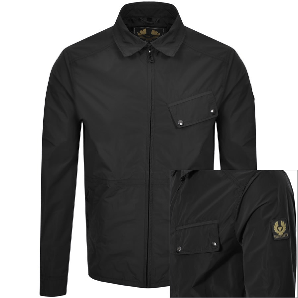 Belstaff Camber Garment-dyed Shell Jacket In 90000 Black