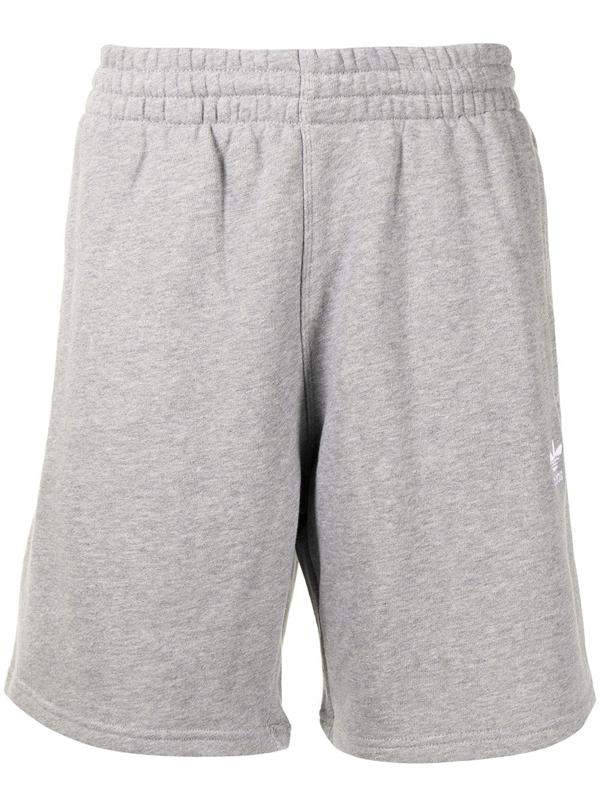 Adidas Originals Essential Cotton Track Shorts In Grey   ModeSens