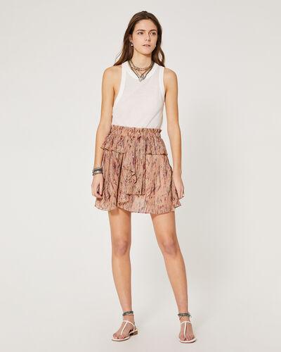 Iro Women's Joucas Print Ruffle A-line Skirt In Light Pink