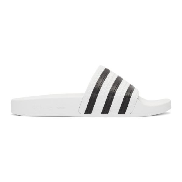 Adidas Originals Adidas Women's Originals Adilette Aqua Slide Sandals From Finish Line In White