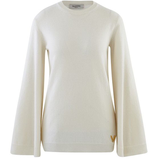 Valentino Monochrome Jumper In Avorio