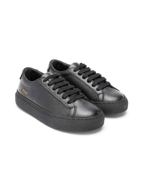 Common Projects Kids' Lace-up Sneakers In Black