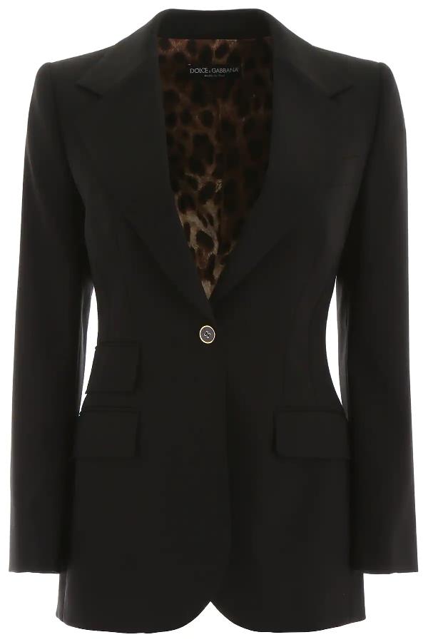 Dolce & Gabbana Single-breasted Wool Blazer In Black
