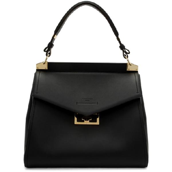Givenchy Black Medium Mystic Top Handle Bag In 001 Black