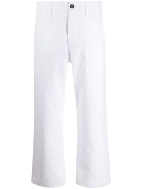 Jejia Cropped Straight Leg Trousers In White