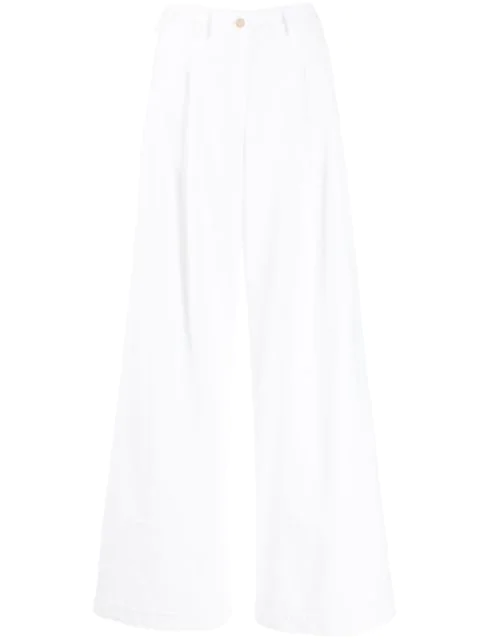 Jejia Flared Trousers In White