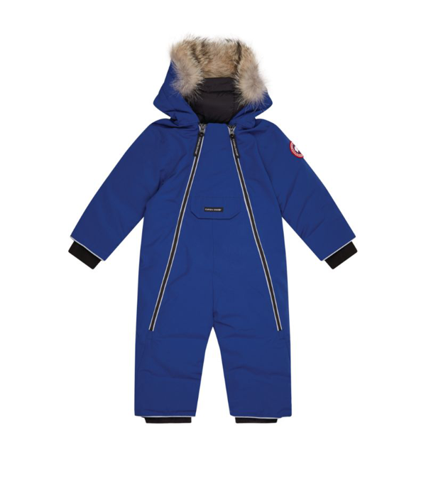 Canada Goose Babies' Kids Snowsuit Lamb For For Boys And For Girls In Pacific Blue